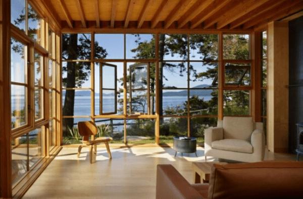 kết hợp với khung gỗ theo phong cách cổ điển