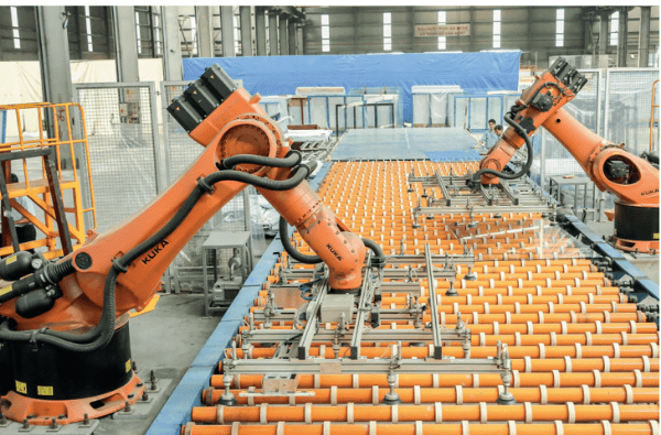 giai ffoanj bốc xếp kính bằng robot