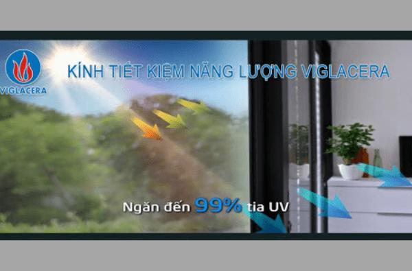 hiệu suất cản tia Uv của kính tiết kiệm năng lượng Viglacera