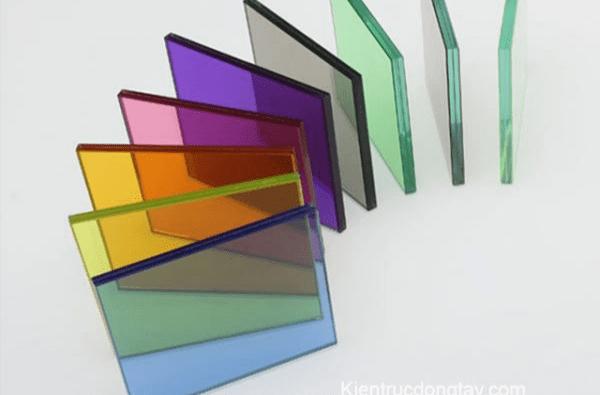 kính dán xây dựng nhiều màu sắc