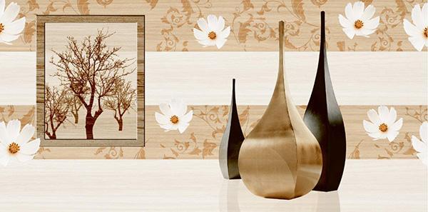 gạch ốp trang trí nội thất phong cách 3D