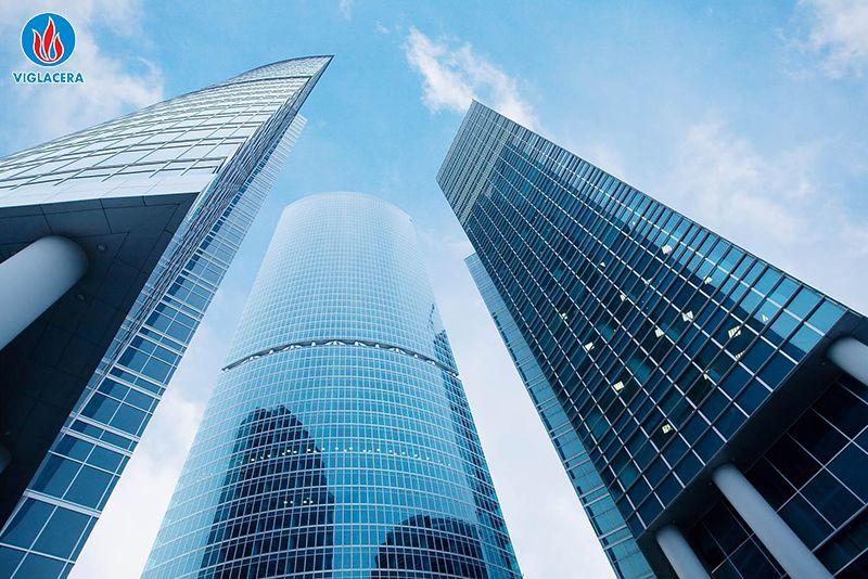 Kính xây dựng được ứng dụng trong các công trình xây dựng