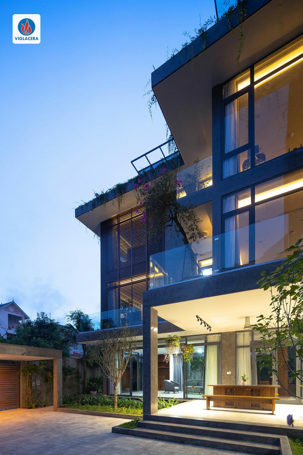 Không gian Villa Ninh Bình rộng mở, hiện đại, tổng hòa cùng thiên nhiên